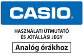 Casio jótállási jegy